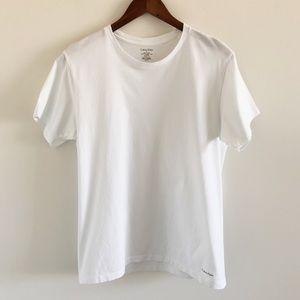 Men's Calvin Klein White Crew Short Sleeve Tee Med